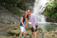 Victor, Rosa and Sebastian from New York  on the Jungle/Waterfall tour - Tulemear