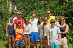 David, John and their families on the Jungle Waterfall tour from Chicago - Casa Romantica