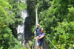 Brad and Theresa from San Clemente on the Jungle/Waterfall tour