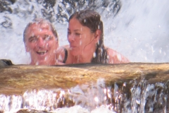 Brad and Theresa under the big Falls!